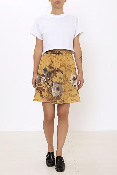 Printed circle mini skirt