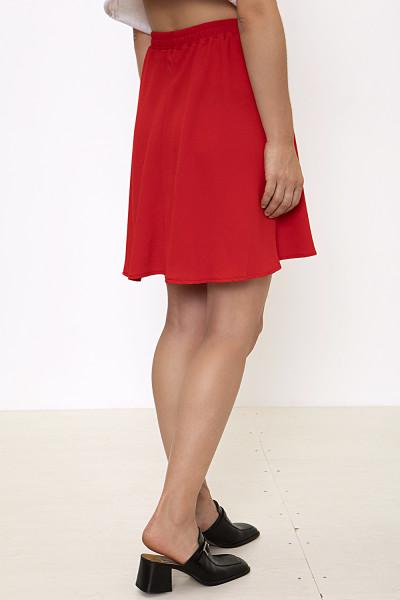 Red circle mini skirt