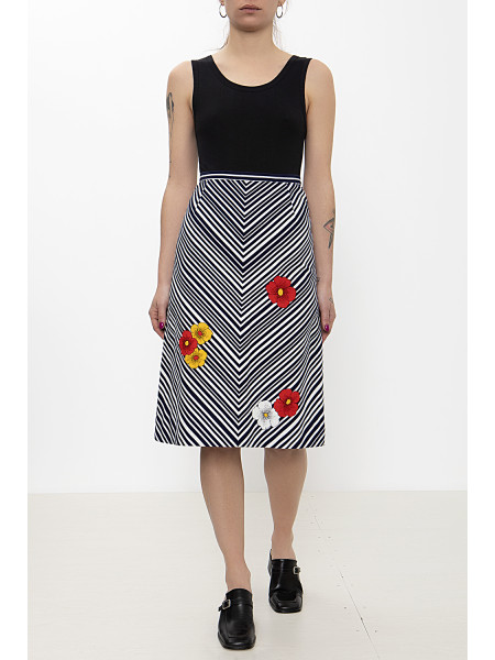 Vintage striped b&w skirt